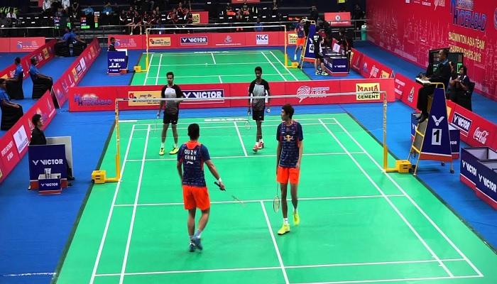 Paired badminton